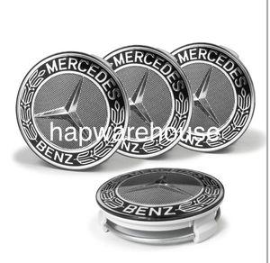 85-17 Mercedes black wheel rim tire center caps 75mm e63 c55 c63 s63 Sl63 for Sale in Las Vegas, NV