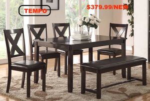 6 PC Dining Set, Espresso for Sale in Downey, CA