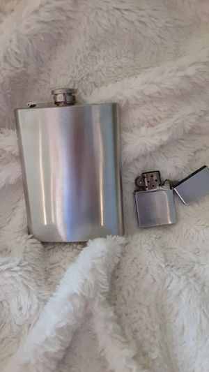 Flask and Zippo Lighter for Sale in Highland, CA