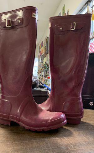 Women's hunter rain boots for Sale in Houston, TX