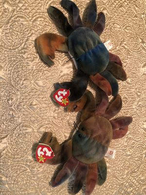 Two Claude Crab Beanie Babies for Sale in Knightdale, NC