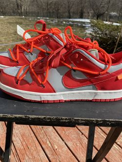 Factory Seconds-Off White X Nike Dunk Low: University Red- (size:11)-read Description for Sale in Barrington,  IL