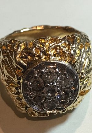 Men Gold and Diamond Ring heavy 27 grams 14 k for Sale in Chicago, IL