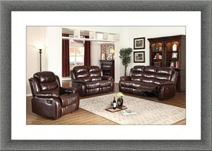 Burgundy or back recliner sofa and loveseat for Sale in Alexandria, VA