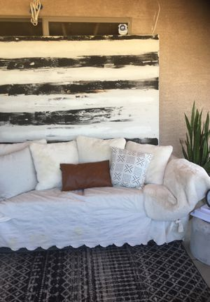 Used couch with sleep-cover (pillows not included) for Sale in Phoenix, AZ