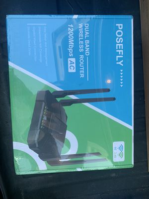 Posefly dual band wireless router for Sale in Moore, OK