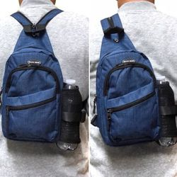 Brand NEW! Dark Blue Crossbody/Side Bag/Sling/Pouch/Converts To Backpack Style For Everyday Use/Work/Outdoors/Traveling/Hiking/Biking/Sports /Gym for Sale in Carson,  CA