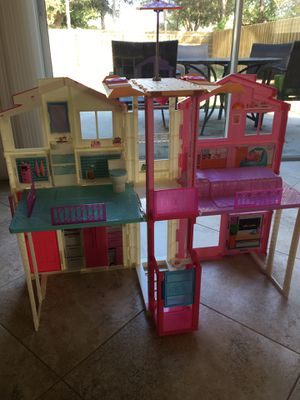 Barbie Town house and accessories/dolls galore for Sale in Apollo Beach, FL