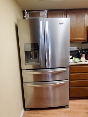 Whirl pool fridge and freezer, stainless steel for Sale in Henderson, NV