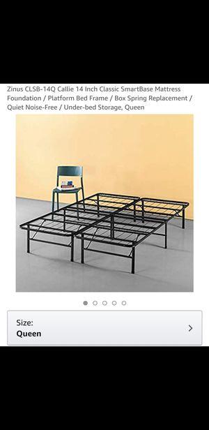 Foldable Queen Steel Bed Frame for Sale in Sebastian, FL