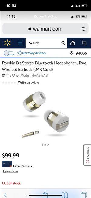 Rowkins earbuds for Sale in San Lorenzo, CA