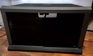 TV STAND WITH GLASS BOTTOM SHELVINGS for Sale, used for sale  Brooklyn, NY
