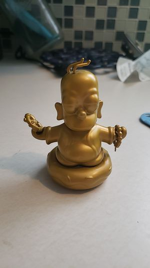 Gold Homer Simpson Buddha toy figure for Sale in Vancouver, WA