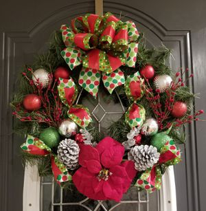 Lovely Christmas wreath for Sale in Coats, NC