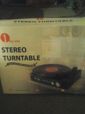 Stereo Turntable . New open box. Converts records to MP3s on your USB STICK for Sale in Clovis, CA