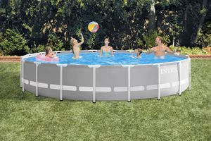 Intex 20ft x 52in Prism Frame Above Ground Swimming Pool Set with Filter Pump (Retail) for Sale in Aspen Hill, MD