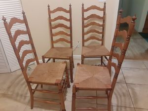 High back antique rush chairs for Sale in Safety Harbor, FL