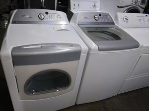 🏭whirlpool cabrio washer large capacity dryer electric nice set🏭 for Sale in Houston, TX