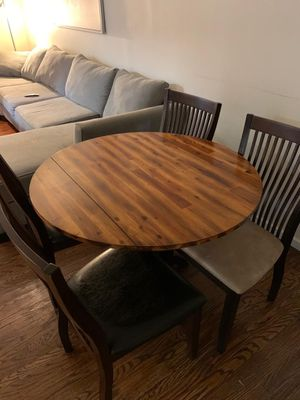Beautiful like new kitchen or dining table with 4 Nevada chairs for Sale in Philadelphia, PA