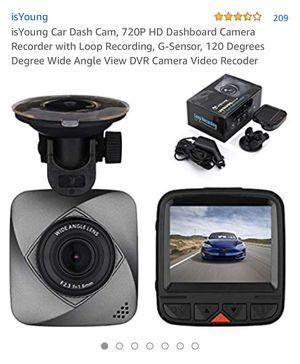 Car dash camera , 720p HD dashboard camera recorder with loop recording, G-sensor 120 degrees wide angle brand new for Sale in Corona, CA