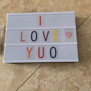 Light Board With Letters for Sale in Scottsdale, AZ