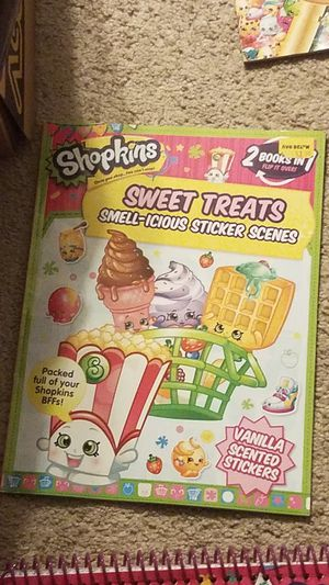 New Shopkins sticker book and like new giant coloring book for Sale in Grove City, OH