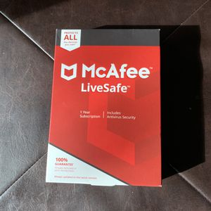 McAfee LiveSafe 1 Year Subscription for Sale in Stevenson Ranch, CA