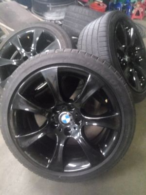4used 245/40/18 black bmw 5 series rims for Sale in Houston, TX