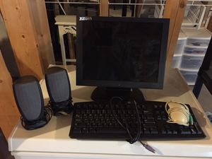 Desk top monitor keyboard mouse 2 speakers for Sale in Chattanooga, TN