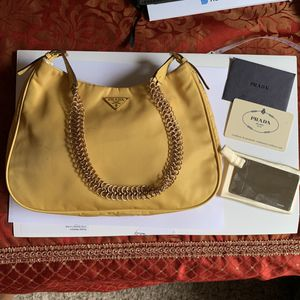 Authentic Prada yellow bag. for Sale in Highland, CA