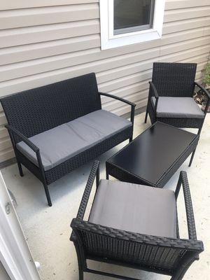 Outdoor patio set wicker furniture comfort for Sale in Chesapeake, VA