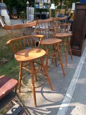 Vintage swival Bentwood bar stools for Sale in Houston, TX