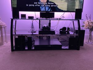 New- Like Glass TV stand for Sale in Alexandria, VA