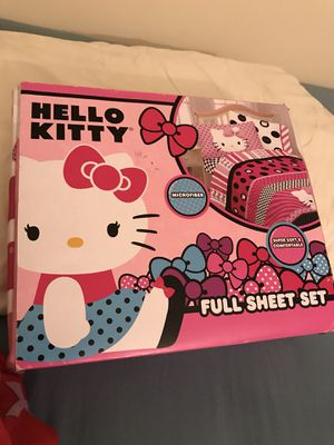 Hello Kitty Full Size Sheet Set $25 New In Package. for Sale in Superior Charter Township, MI
