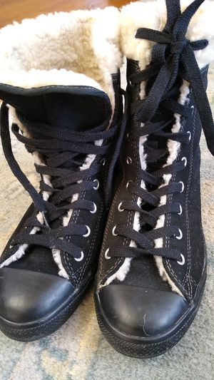 New Converse suede leather lace up Boots US 7 EUR 38 for Sale in Ashburn, VA