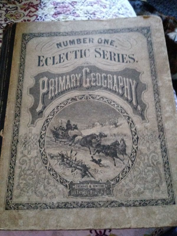 Geography book 1870 year printed