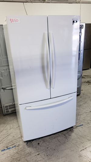 WHITE FRIDGE SAMSUNG FRENCH 3 DOOR REFRIGERATOR FREE DELIVERY AND WARRANTY for Sale in Anaheim, CA