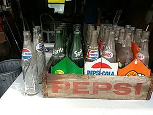Antique soda bottles and wooden crate...PRICE REDUCED!!! for Sale in Pittsburgh, PA