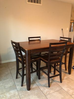 Wooden Table with 4 Chairs for Sale in Phoenix, AZ