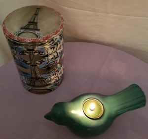 Eiffel Tower jar and Dove tealight holder for Sale in North Chesterfield, VA