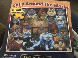 Cat's Around the World puzzle for Sale in Mill Creek, WA