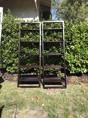 Pair of leaning book/decorative shelves for Sale in Walnut Creek, CA