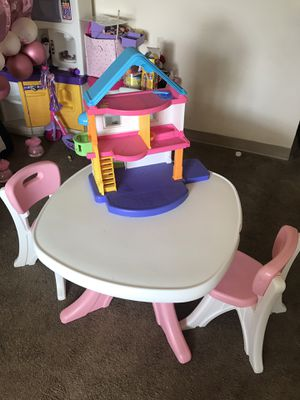 Board game with chairs and dollhouse for Sale in Takoma Park, MD