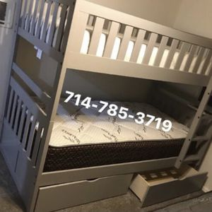 Twin/Twin Bunk Bed + 2 Mattress for Sale in Chula Vista, CA