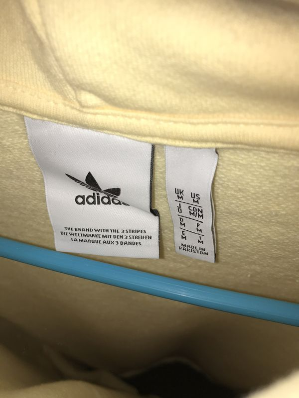 Adidas Trefoil Yellow Hoodie Size M