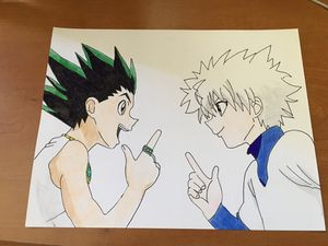 Hunter x Hunter Drawing 9 by 12 for Sale in Santa Maria, CA
