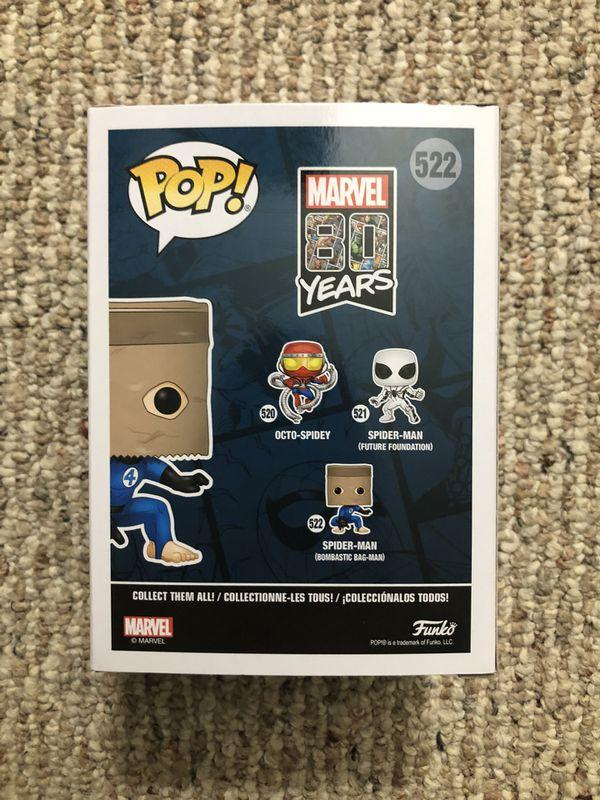 Funko Pop Vinyl - Spider Man (Bombastic Bag-Man / Spider-Man Brown Paper Bag) - Walgreens Exclusive