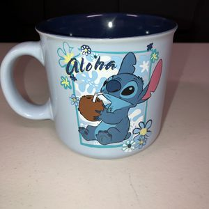 NEW Disney Stitch ALOHA 20 oz Ceramic Mug Silver Buffalo. Condition is New. Shipped with USPS Priority Mail. for Sale in Anaheim, CA