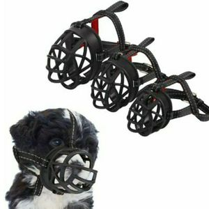Dog Muzzle Soft Basket Silicone Muzzle Prevent Biting Chewing and Barking Collar No 2 for Sale in Houston, TX