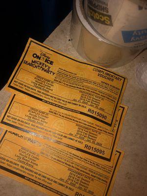 3 Disney on ice ticket for Sale in Pasadena, CA
